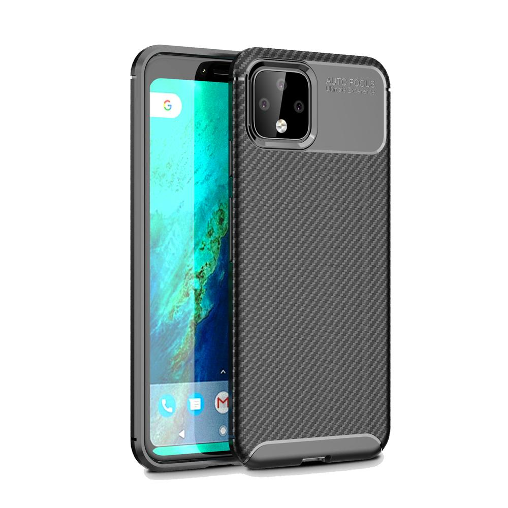 Pixel 4 Case Slim Soft TPU Cover with Cushioned Corners for Google Pixel 4 Black