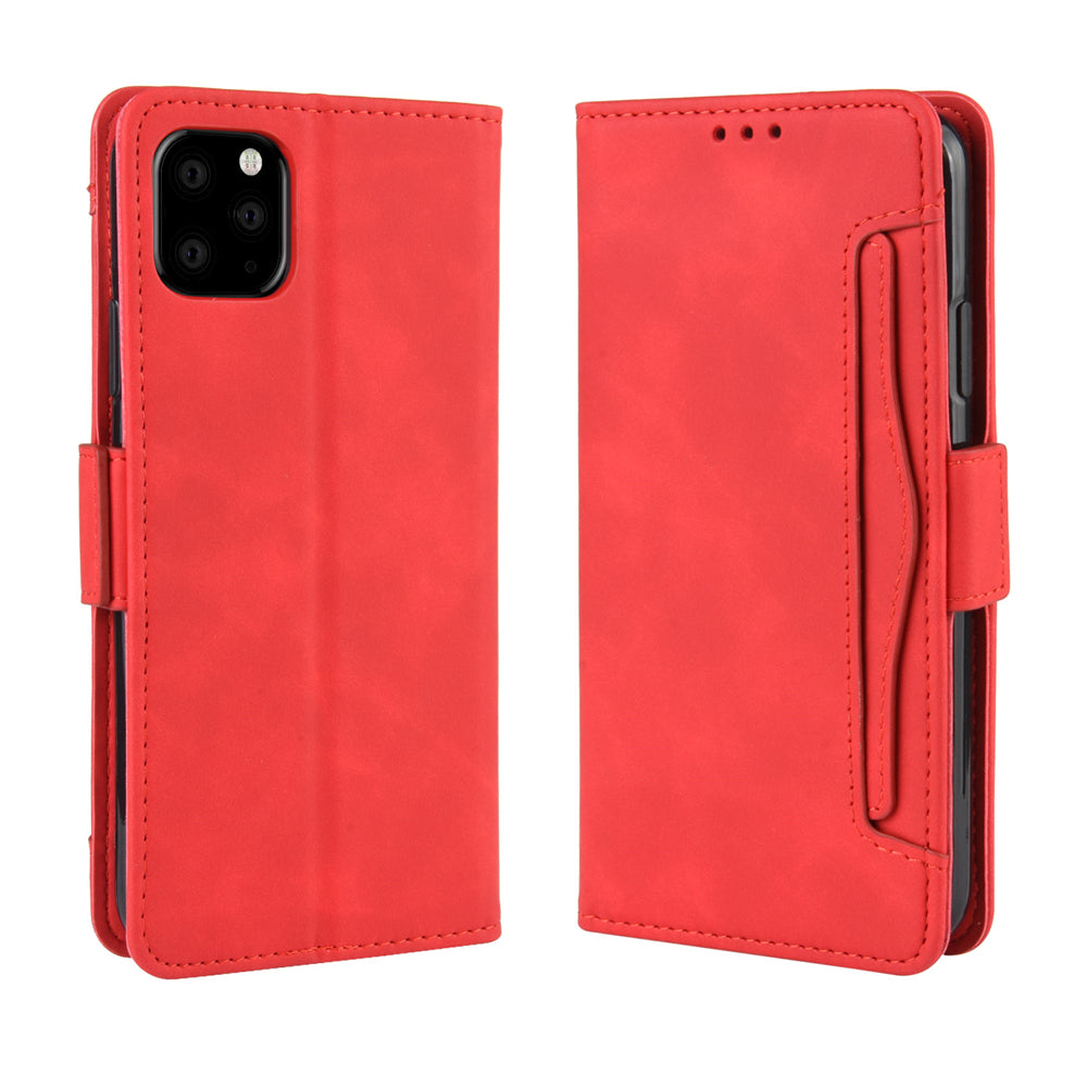 Women Wallet Case for iPhone 11 Pro with Multiple Credit Card Slots & Stand Red