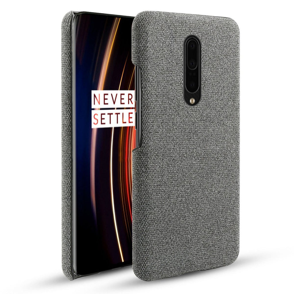 OnePlus 7T Pro Case Soft Cloth Texture Scratch Resistant PC Case for OnePlus 7T Pro Grey