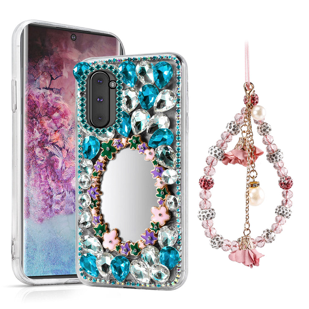 Galaxy Note 10 Case Crystals Rhinestone Bling Soft Protective Case with Hand Chain #2