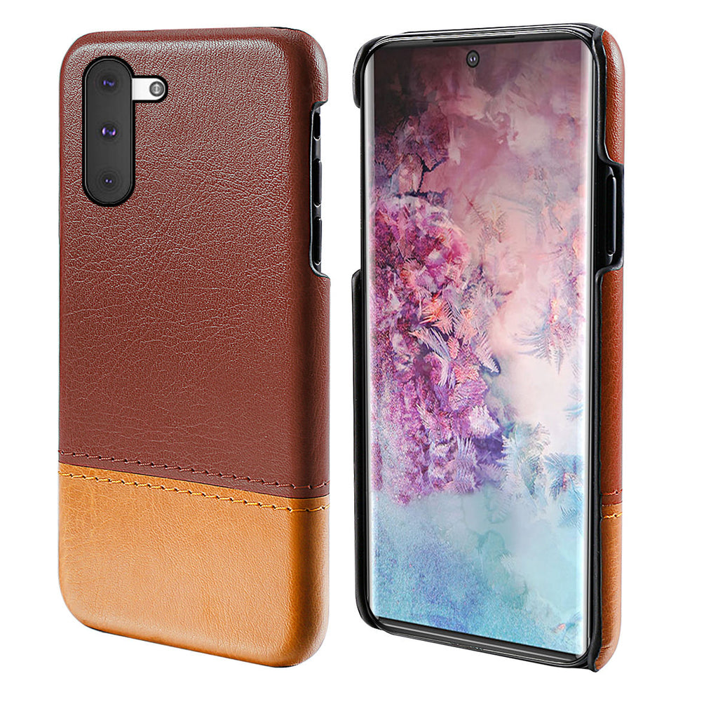 Phone Cover for Galaxy Note 10 Ultra Thin Hard Case Shockproof Shell Brown-light brown