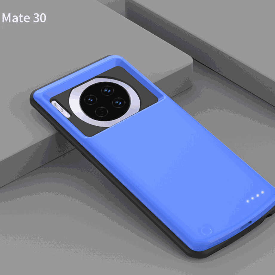Extended Battery Pack for Huawei Mate 30 5000mah Protective Charging Case Blue