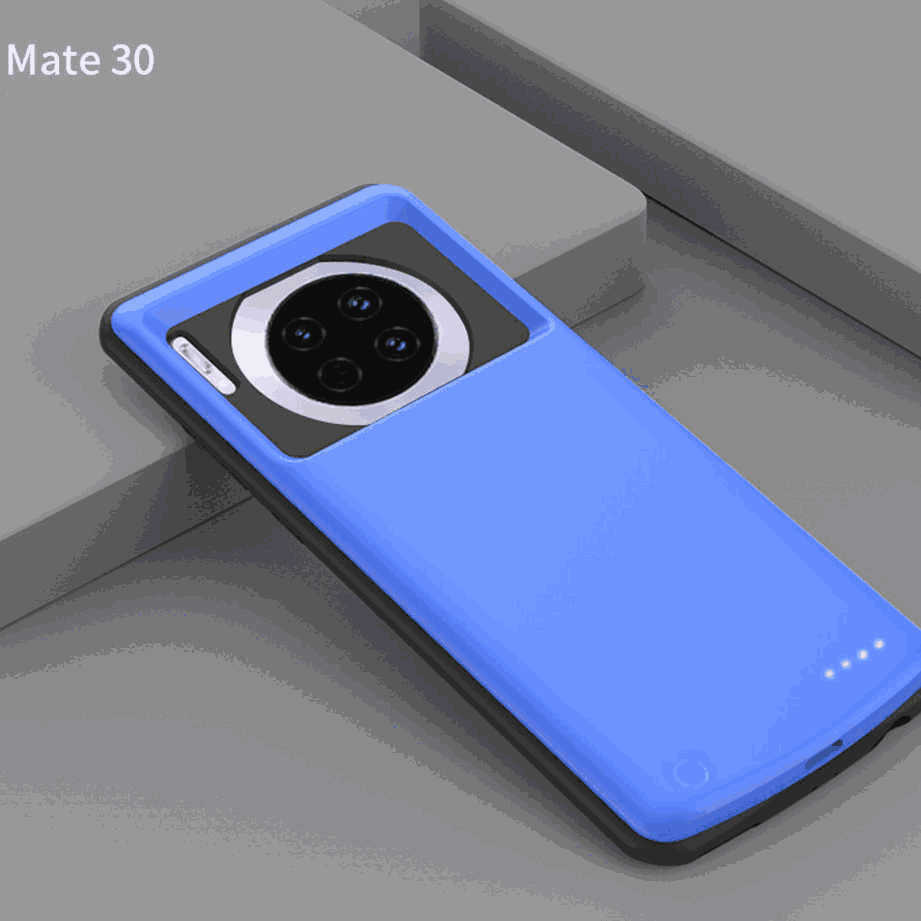 Huawei Mate 30 Pro Battery Case 6000mah Extended Backup Protective Charging Case Blue