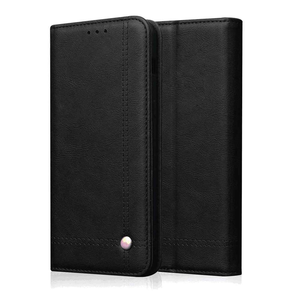 Xiaomi mi note 10 Wallet Case Credit Card Holders Flip Wallet Leather Magnetic Purse Cover Black