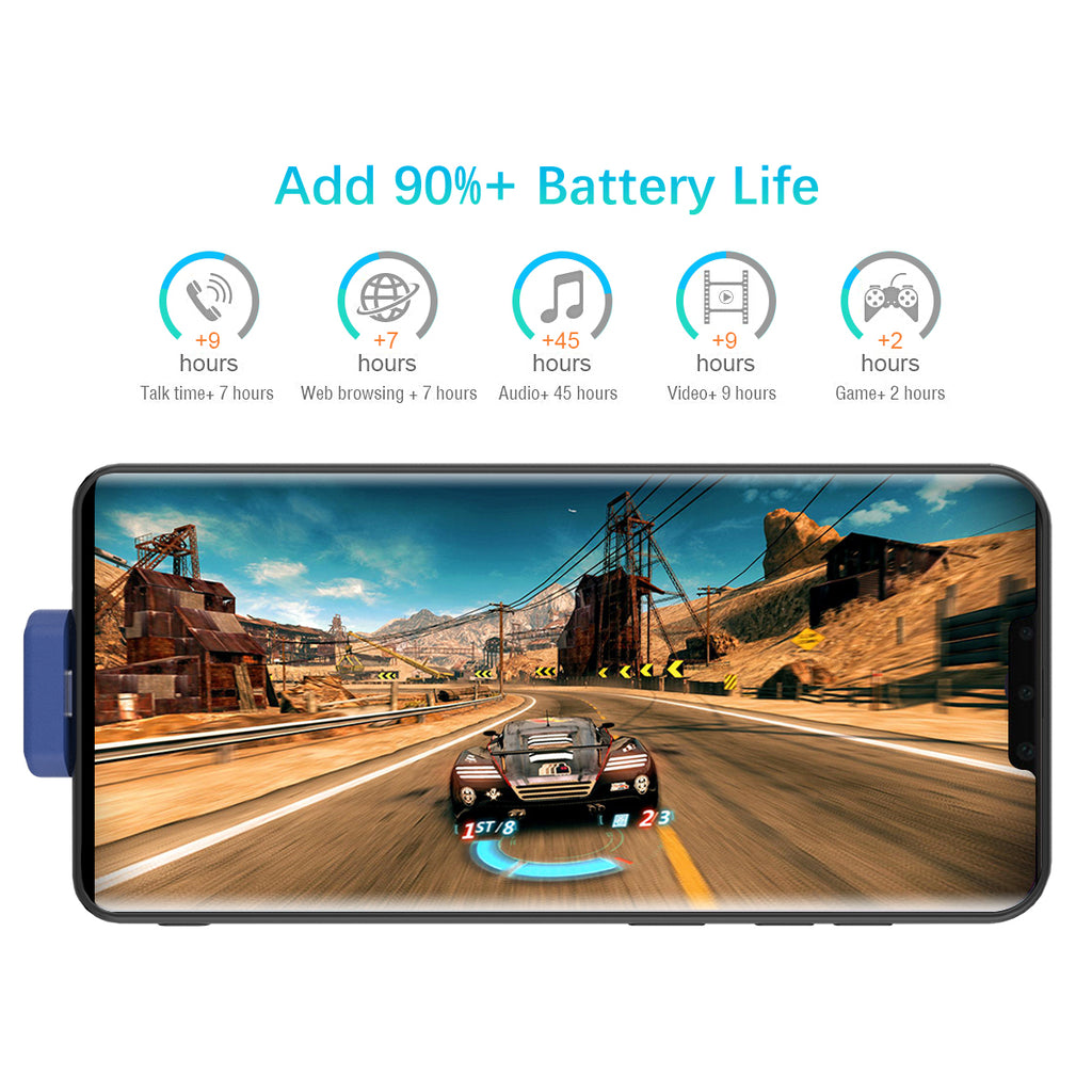 Huawei Mate 30 Pro Battery Case Anti-Scratch External Protective Battery Cover 7000mah Juice Pack Blue