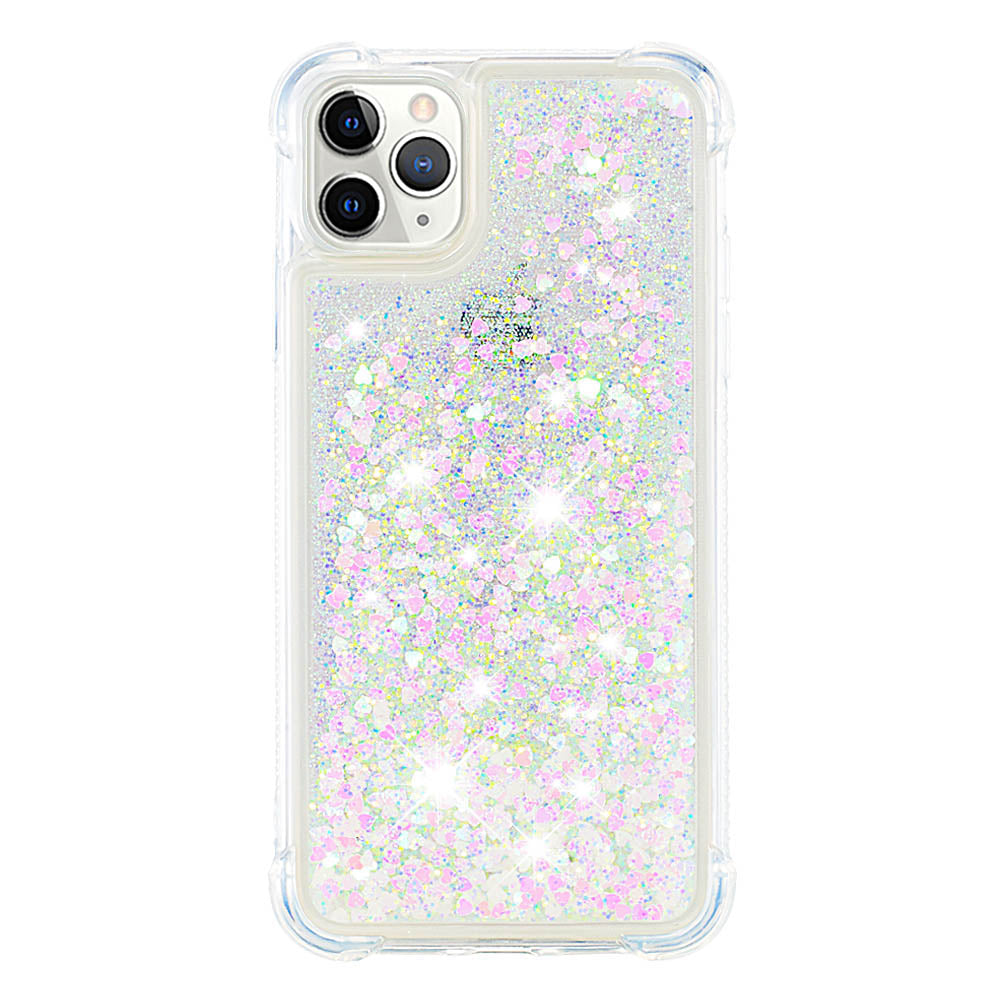 Glitter Case for iPhone 11 Pro Luxury Bling Flowing Liquid Sparkling Quicksand Cover White