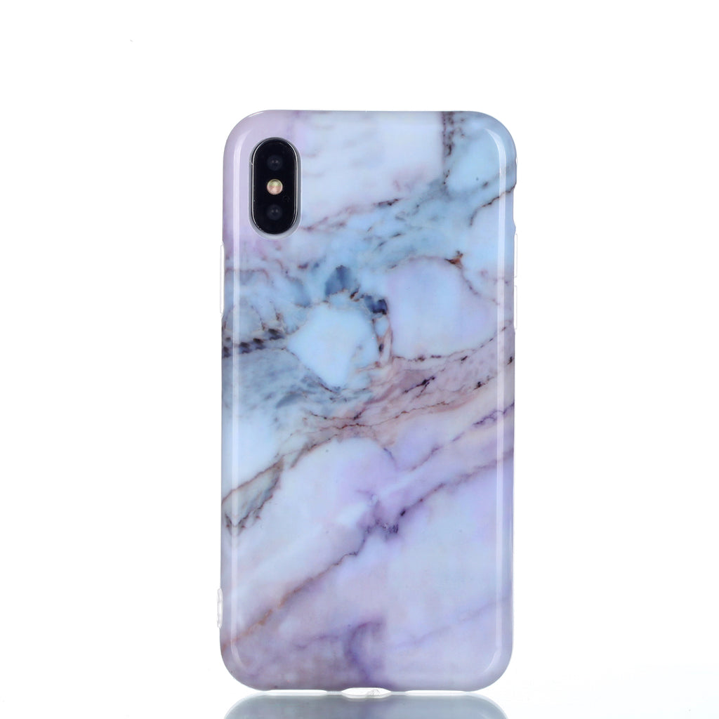 Marble iPhone Xs Case Ultra Slim Fit Transparent Soft TPU Marble Phone Case Anti-Scratch Protective Cover