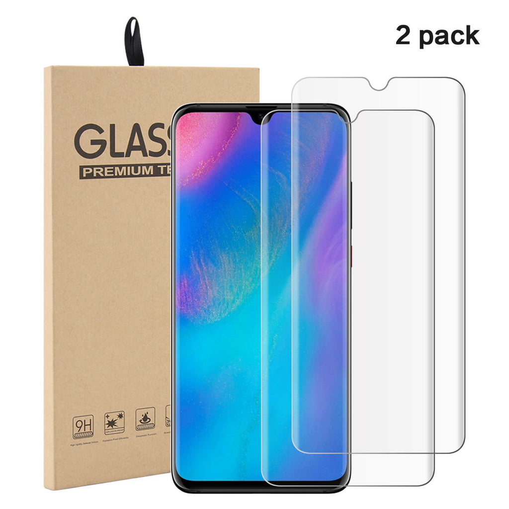 2 Pack Huawei P30 Screen Protector Tempered Glass Film Anti-Scratch Screen Cover