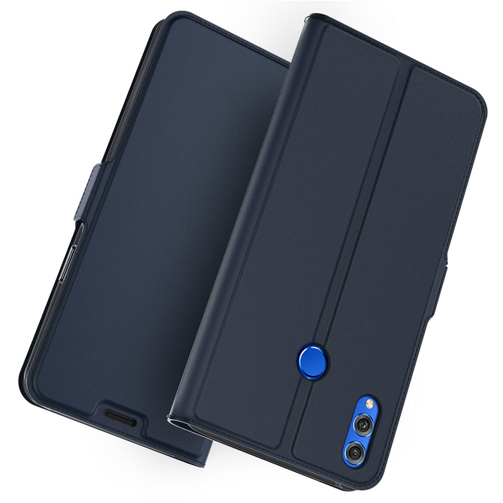Huawei Honor 10 Lite Case  2019 Wallet Slim Folio Leather Cover Blue