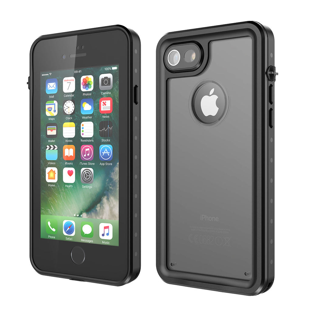 iPhone 8 iPhone 7 Waterproof Case 4.7 inch Ultra Slim Cover Protective Black