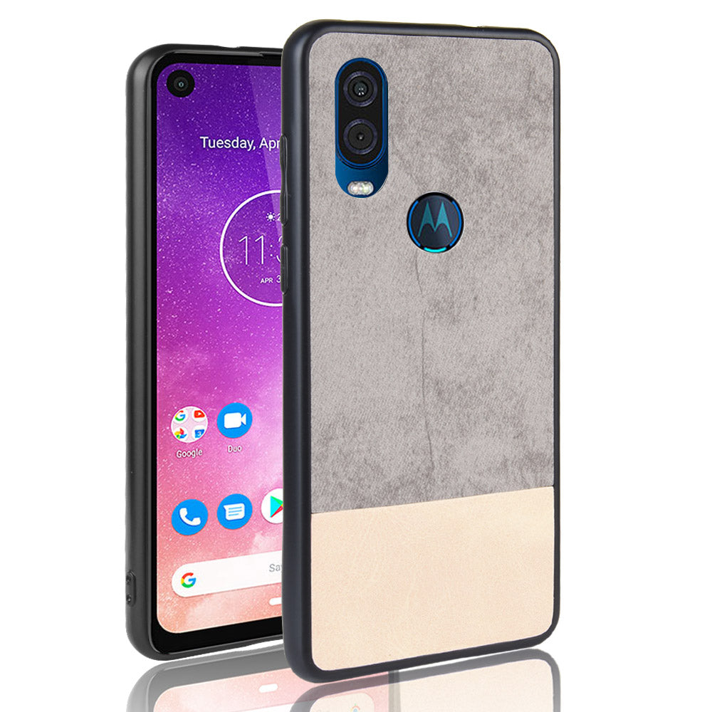 Case for Motorola One Vision Shockproof TPU Edges Phone Cover Grey