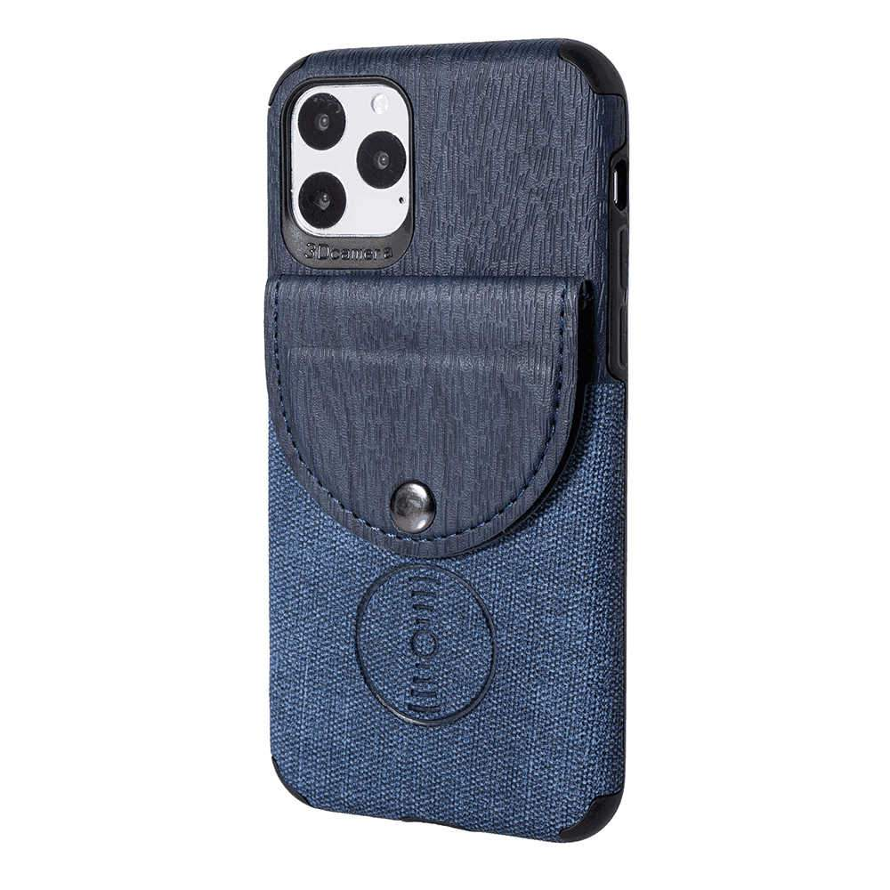 iPhone 11 Leather Case Anti Shock Cover Apple iPhone Cases with Credit Card Slot Blue
