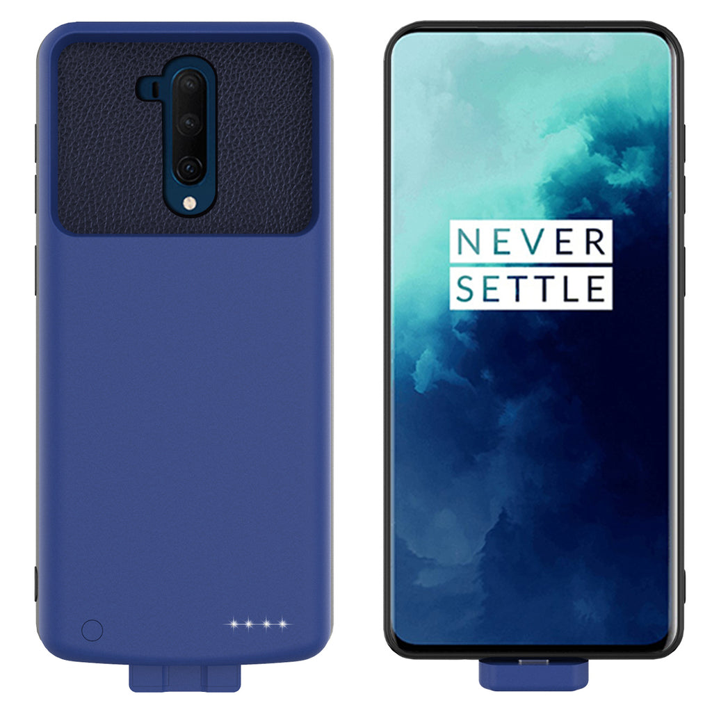 Battery Case for Oneplus 7T Pro 7000mAh Portable Charger Extended Battery Pack Protective Case Blue