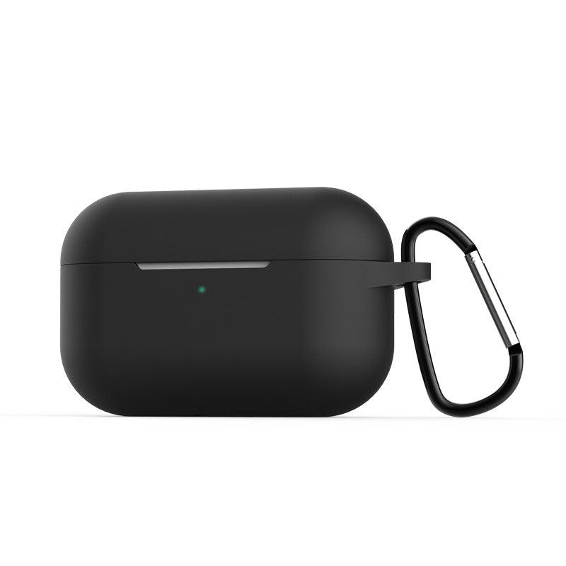 AirPods Pro Case Silicone Case Protective Cover for AirPods Pro Charging Case with Keychain Black