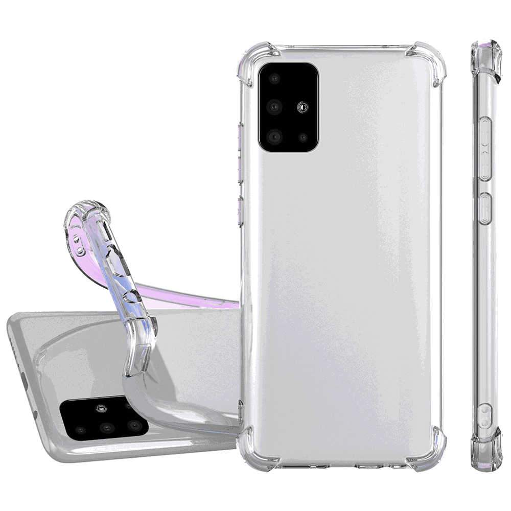 Samsung Galaxy A51 Case Clear Anti-Scratch Shock Absorption Cover Case Transparent