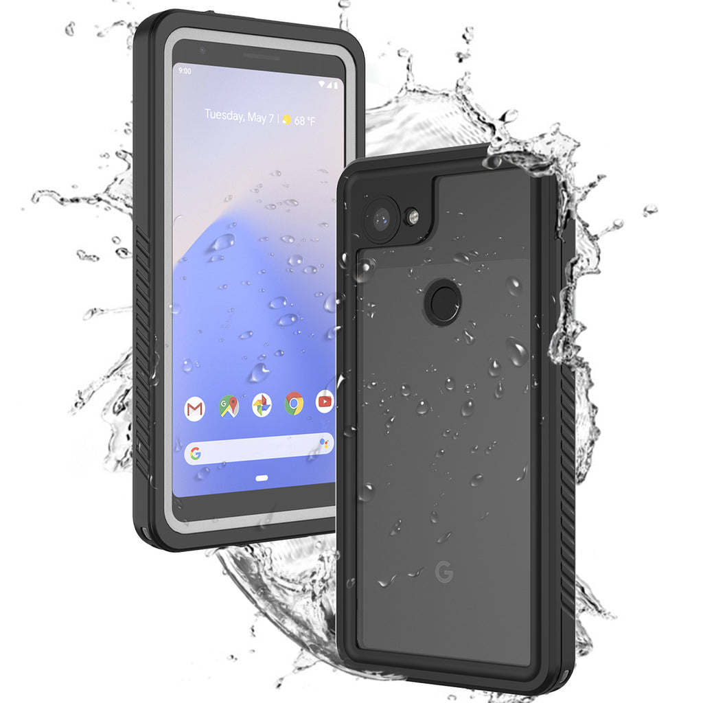 Google Pixel 3a Waterproof Case Built in Screen Protector Full Body Sealed Protective Case Black