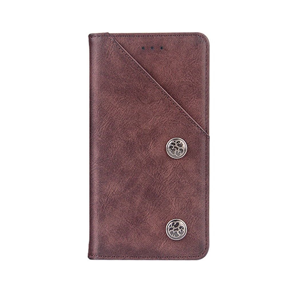 Google Pixel 4 Leather Case Vintage Flip Cover Wallet with Viewing Stand and Card Slots Red