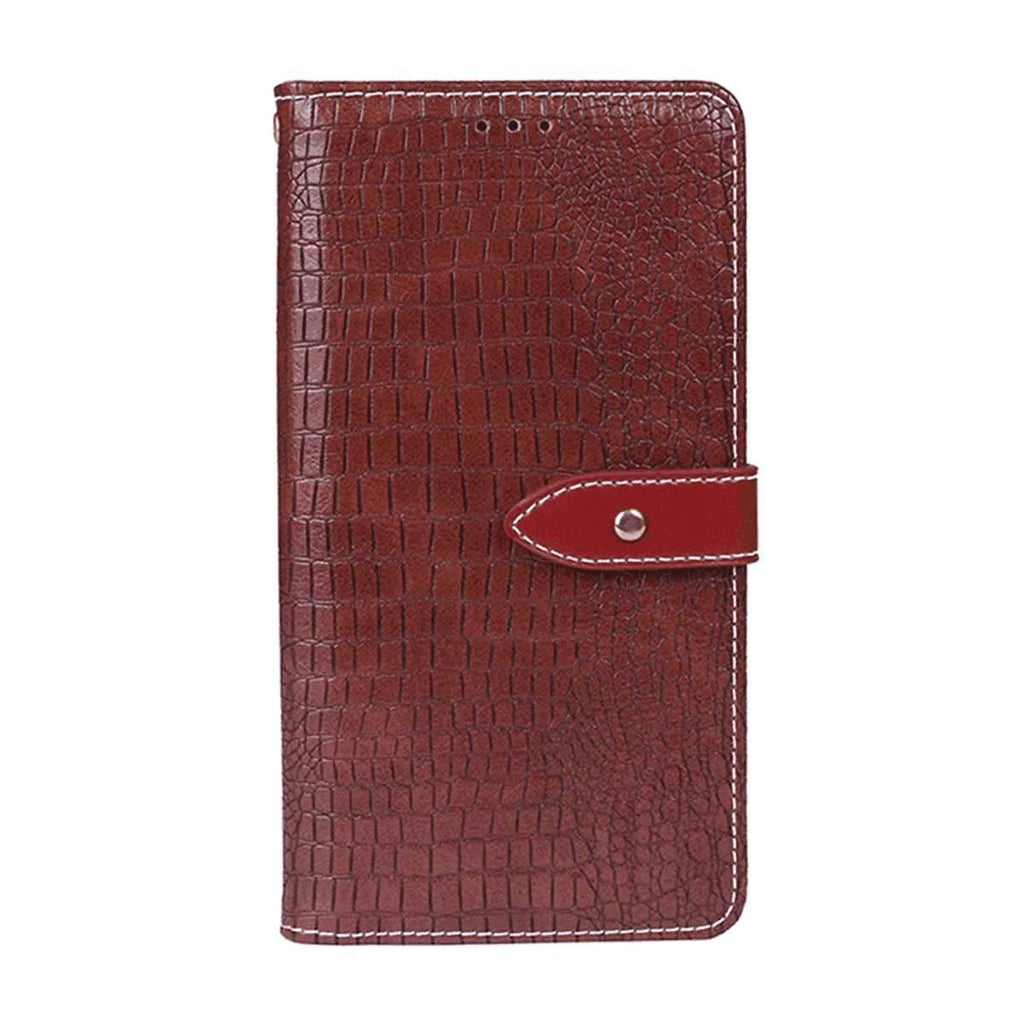 Xiaomi mi note 10 Wallet Case Shock-Absorbent Bumper Card Slots Kickstand Leather Flip Case Jujube Red