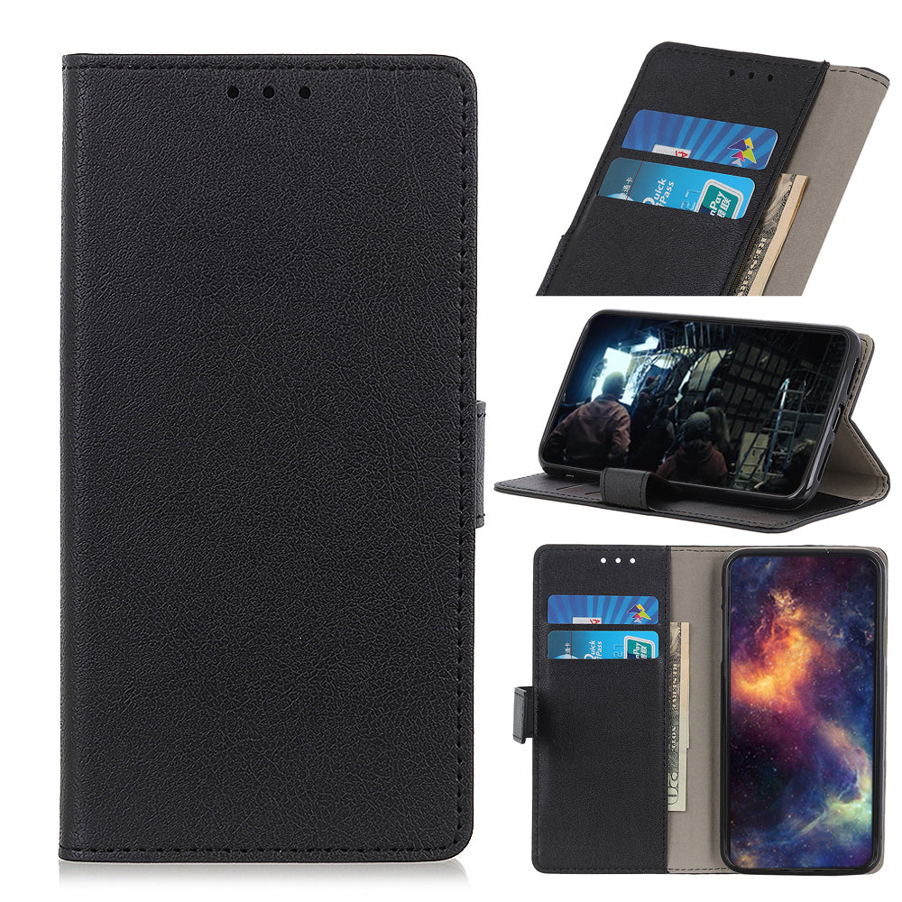Leather Covers for Galaxy Note 10 plus 5G with 2 Credit Card Slots Wallet Case Black