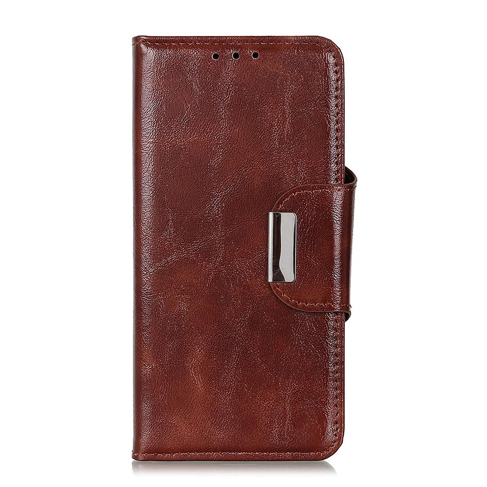 Pixel 4 XL Wallet PU Leather TPU Rubber Shockproof Bumper Magnetic Case Brown