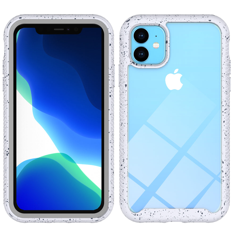 iPhone 11 pro Case Starry Sky Phone Cover TPU & PC Shockproof Hybrid Cover White