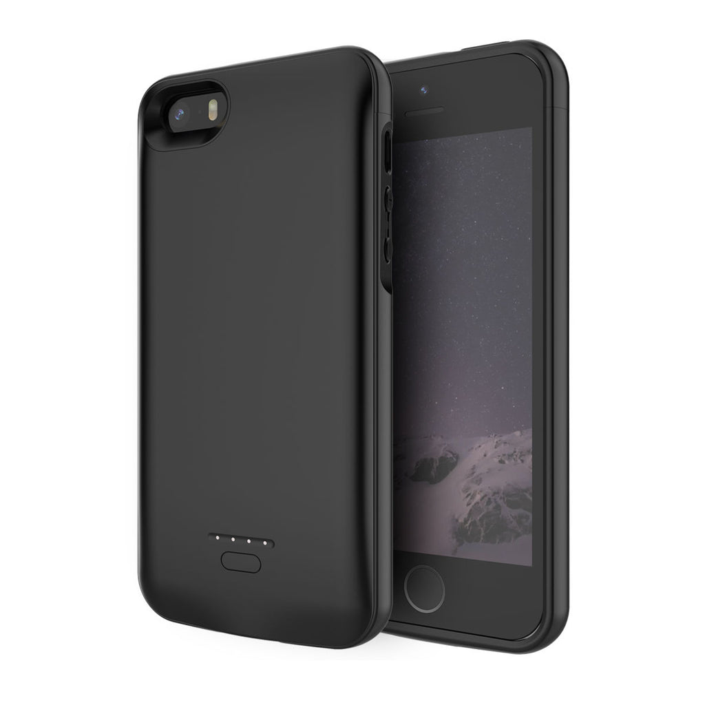 iPhone SE 5 5S Battery Case 4000mAh External Charger Cover Backup Power Bank Black