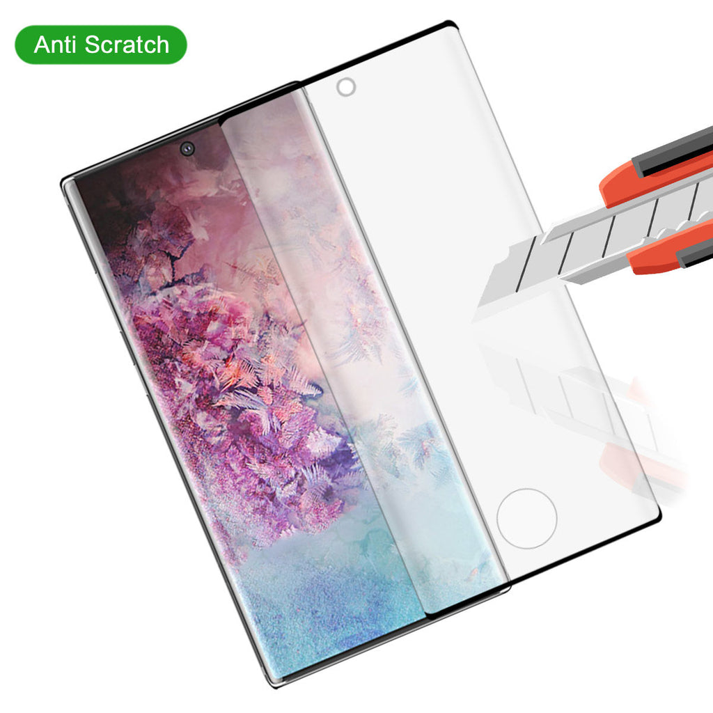 Samsung Galaxy Note 10 Tempered Glass Screen Protector 99.99% HD Clarity 2 Pack