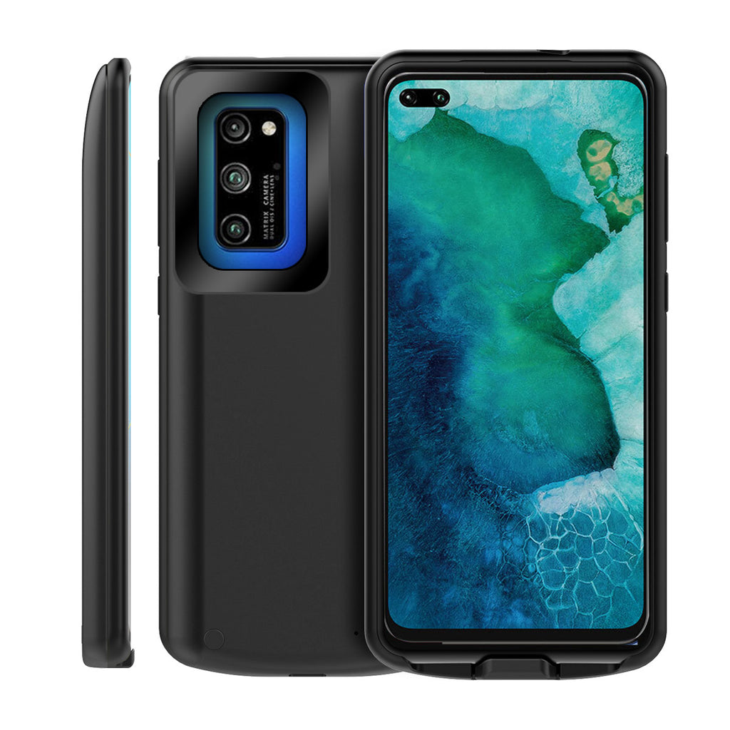 Honor V30 Pro Battery Case Rechargeable Extended Backpack Power Bank 6500mah Battery Charger Case Black