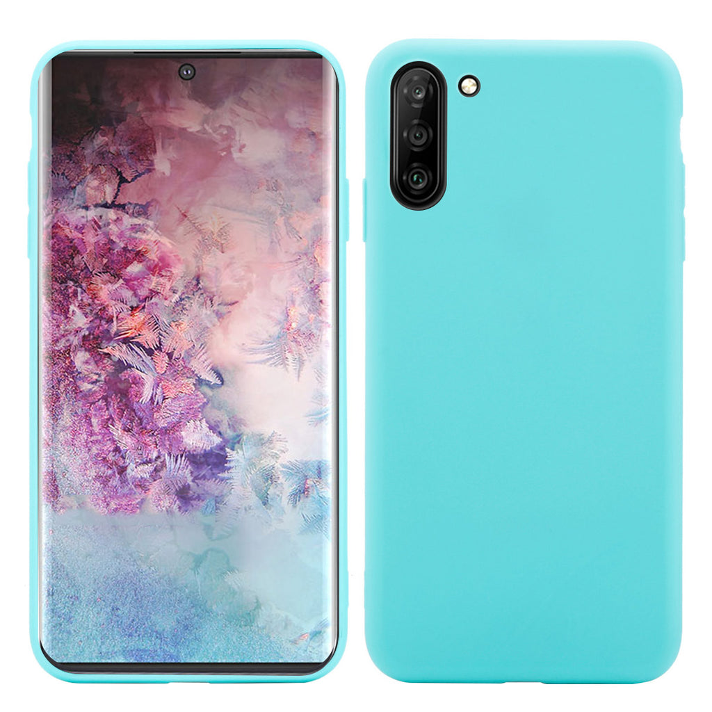 Samsung Galaxy Note 10 Case Shockproof TPU Bumper Cases Non Slip Scratch Resistant - Candy Blue