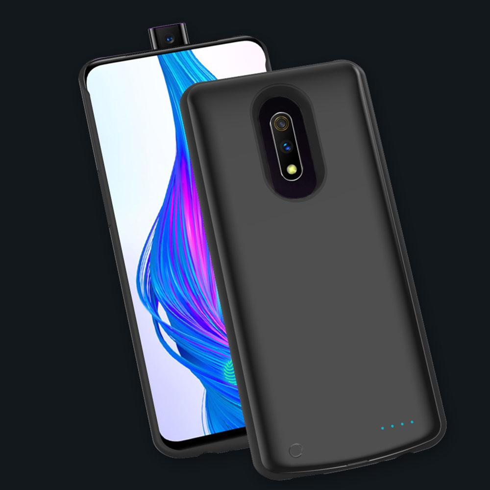 Battery Case for Realme X 6500mAh Charging Case Protective Charger Backup Black