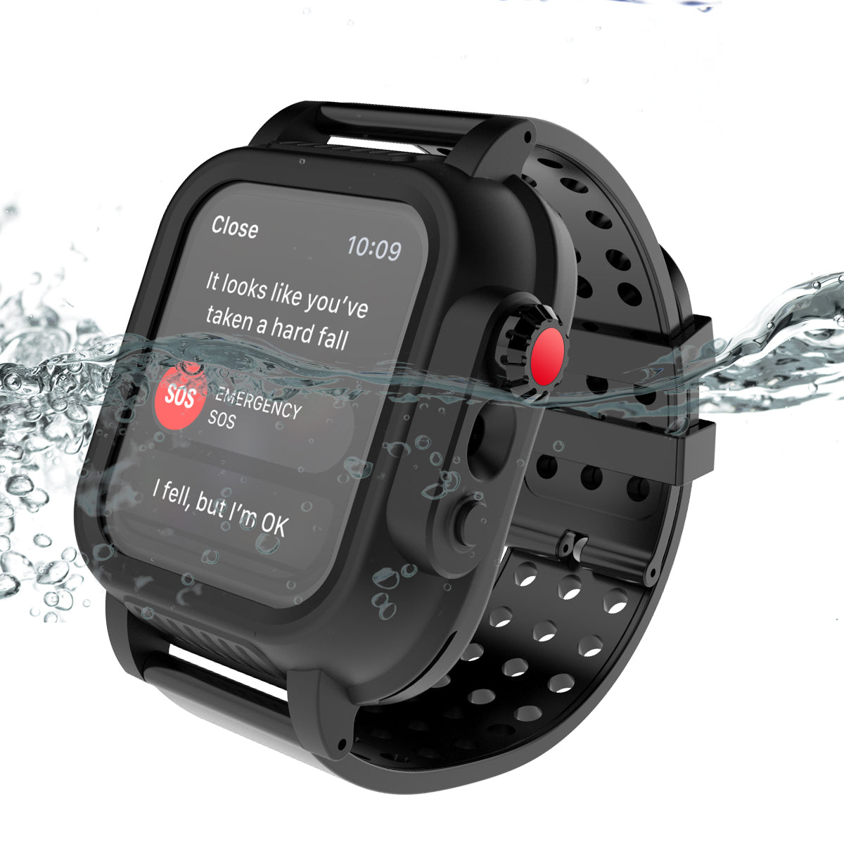 huge discount 9bc5a 483b8 iWatch Series 3 Waterproof Case Rugged Protective Cover 42mm with ...