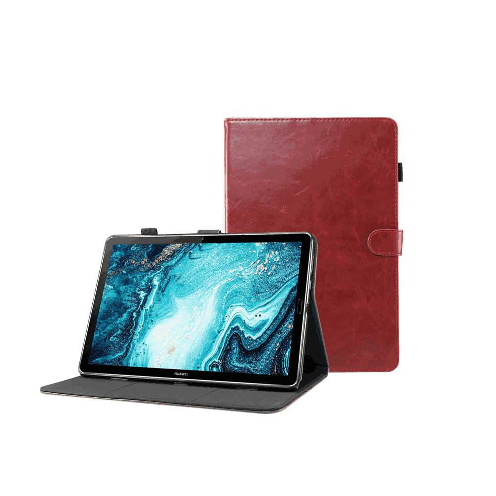 Leather Case for Huawei MatePad Pro 10.8 Inch Folio Stand Cases with Card Holder Magnetic Stand Red
