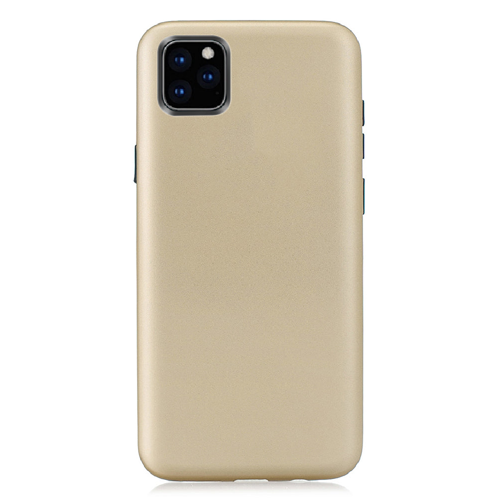 iPhone 11 Case PC + Silicone Soft Phone Back Case 3 in 1 Shockproof Protective Shell Golden