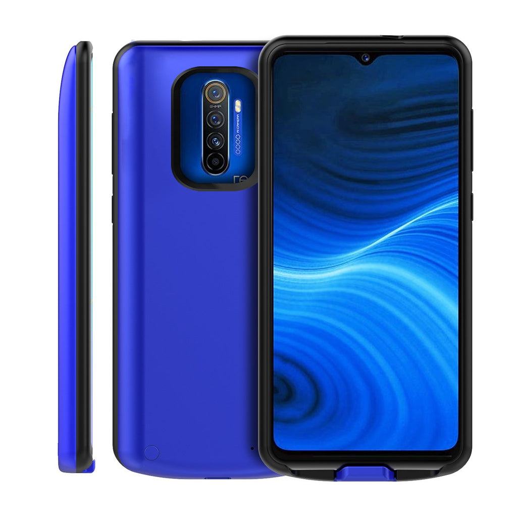 Realme X2 Pro Battery Case 6500mah Extended Battery Pack Shock Protection Charging Case Blue