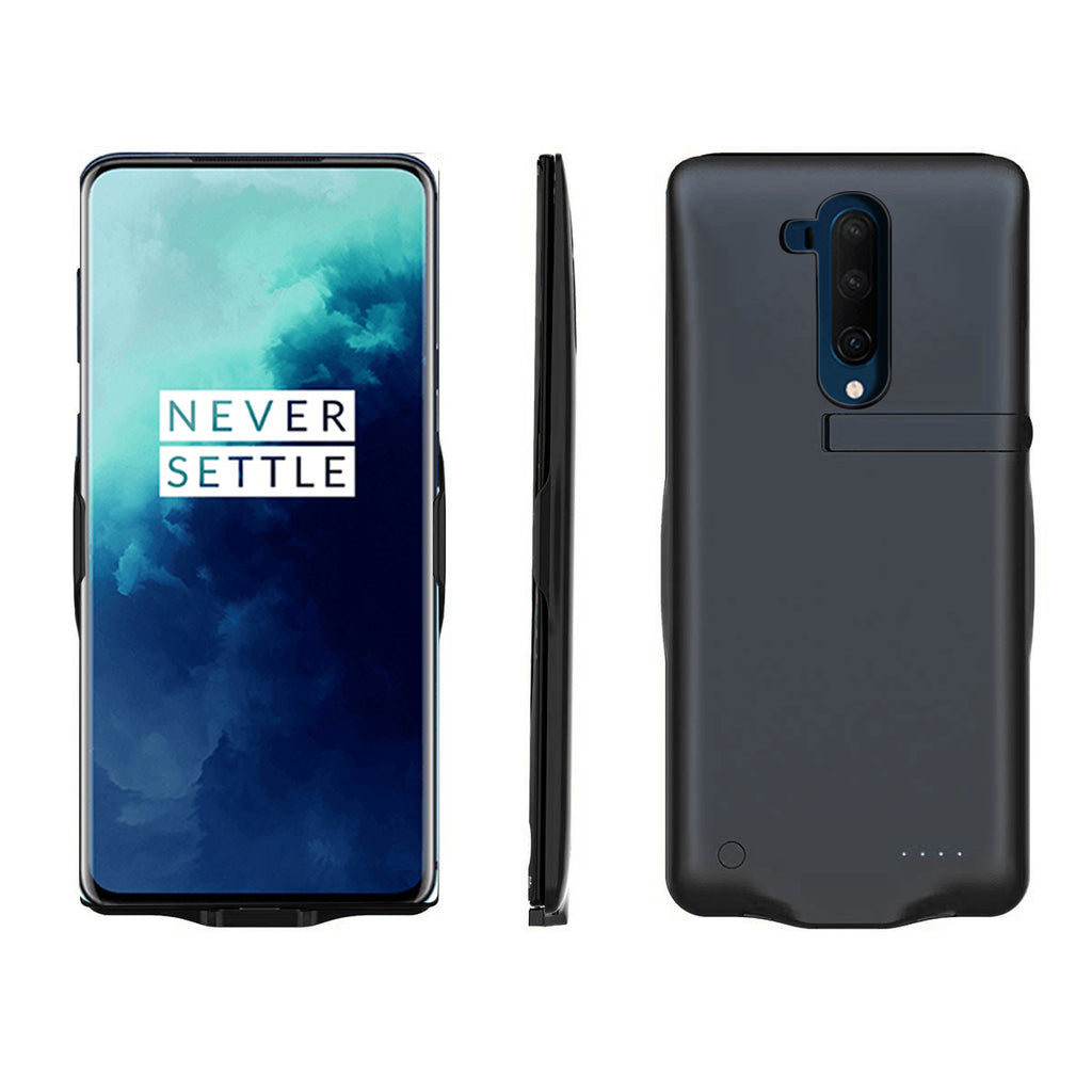 Battery Case for Oneplus 7T Pro 6500mAh Portable Protective Charging Case Extended Battery Pack Black