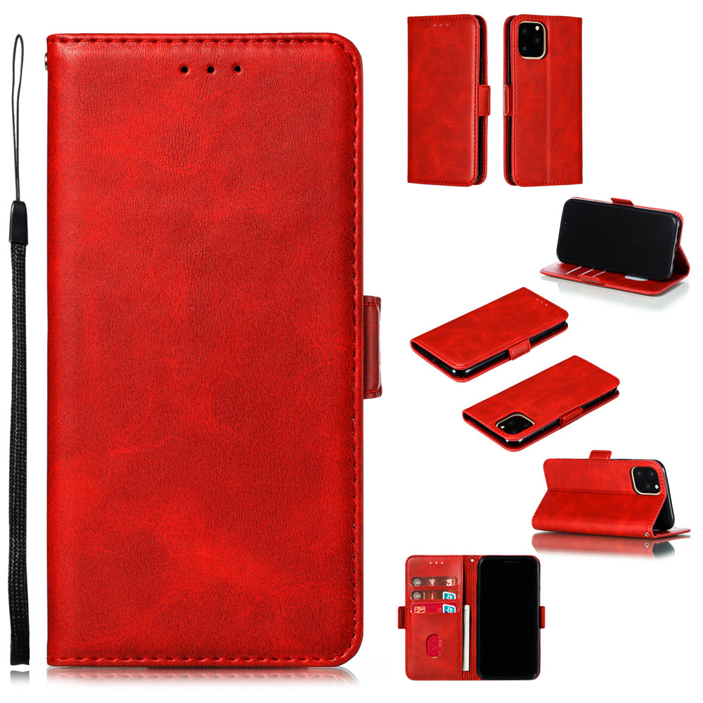 iPhone 11 Wallet Case Shock-Absorbing Protective Cover Magnetic Closure Cover Red