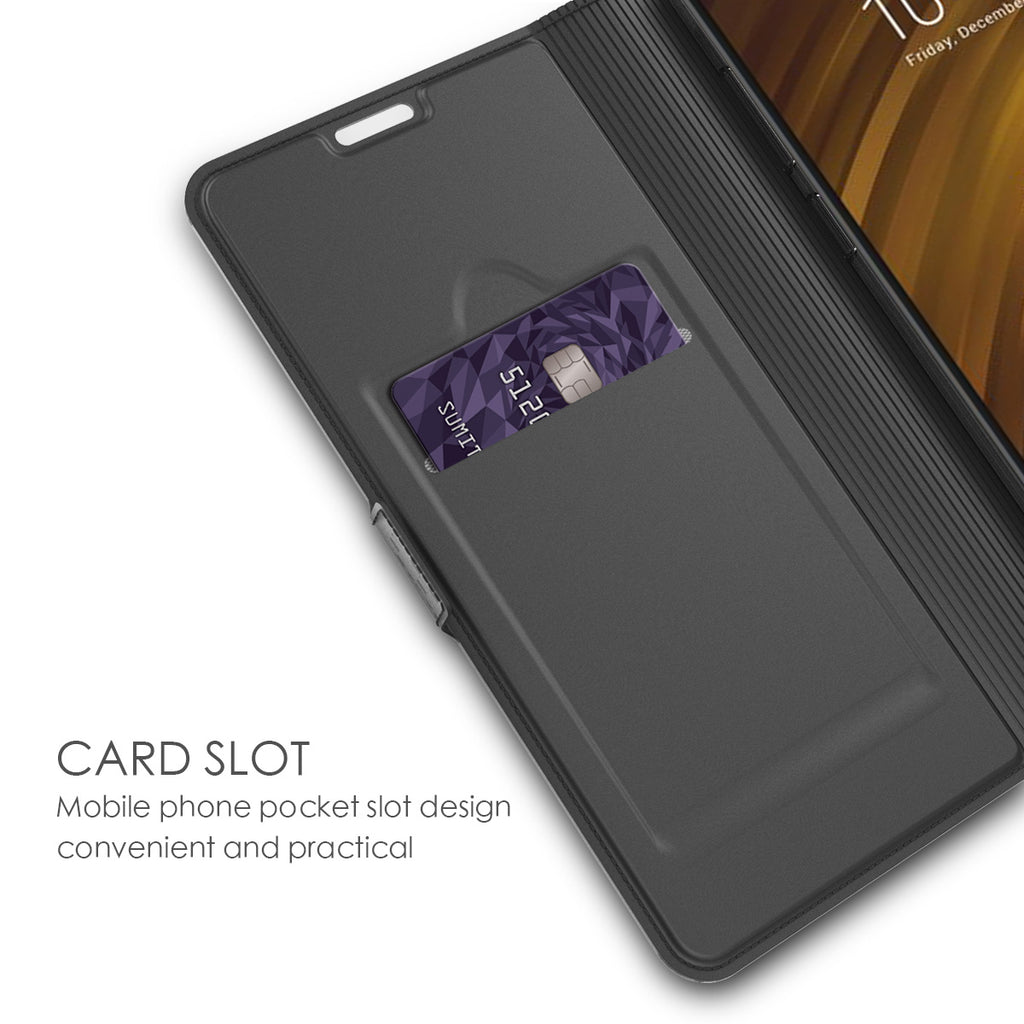 Xiaomi Pocophone F1 Case PU Leather Flip Stand Wallet Case