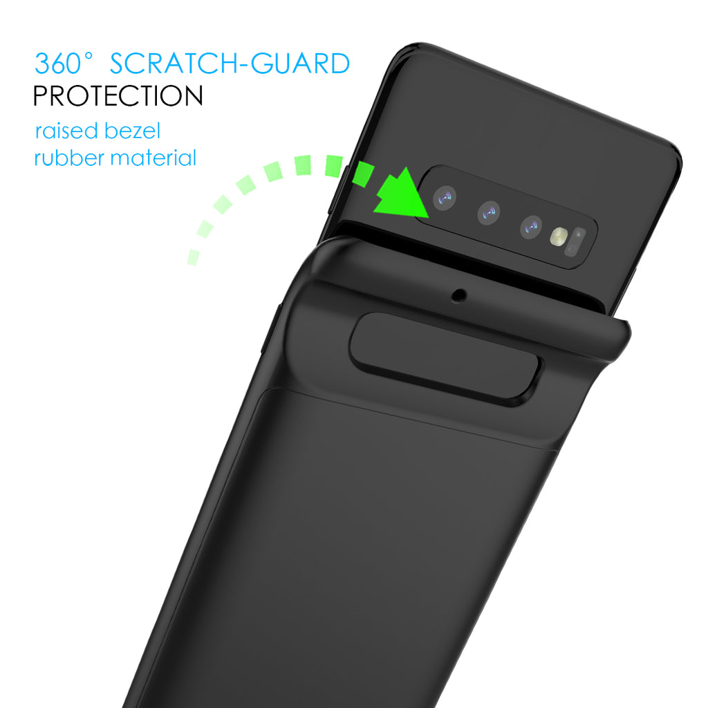 Samsung Galaxy S10 Battery Case 4700mAh Rechargeable Extended Battery Cover Black