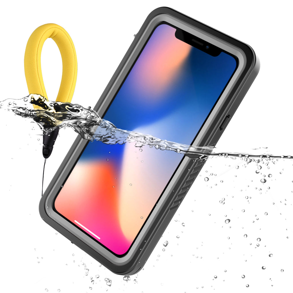 Moonmini iPhone XS Case Waterproof Case IP68 Certified with Buoyancy Lanyard Floating