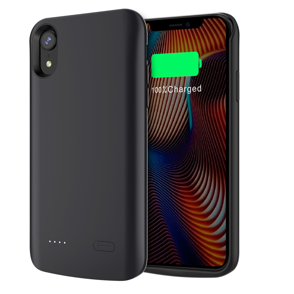 iPhone XR Battery Case 3600mAh Rechargeable External Battery Cover