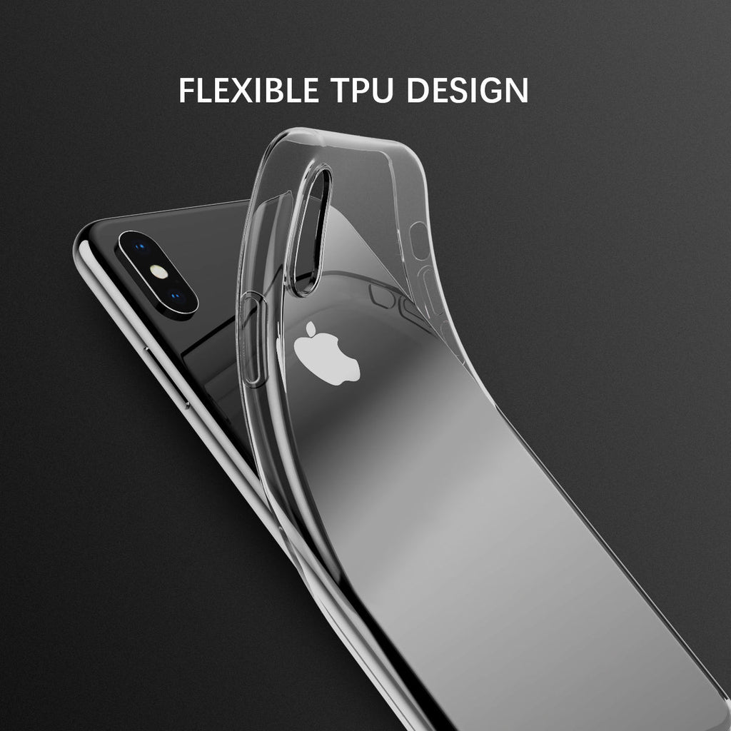 iPhone Xs Max Clear Case Transparent Soft TPU Dropproof Shockproof Back Cover