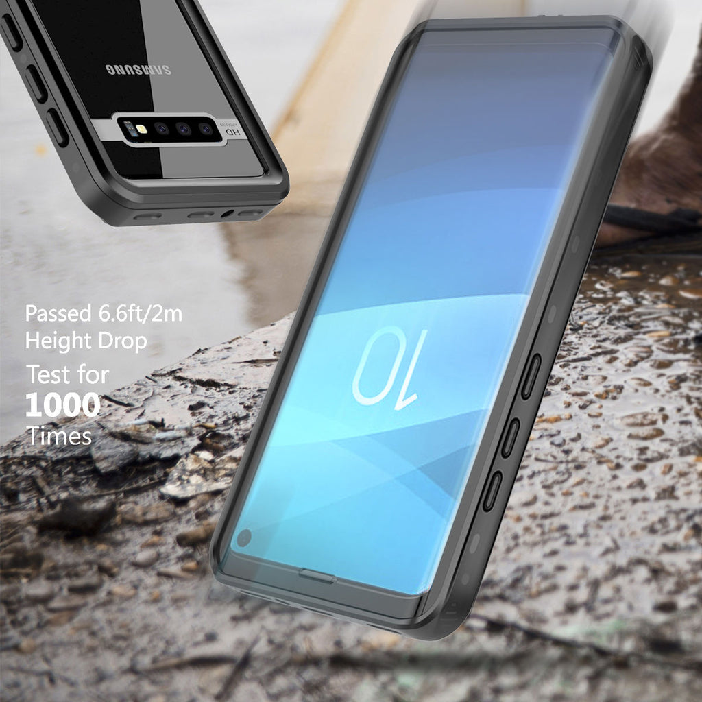 Waterproof Case for Galaxy S10 Samsung with Built-in Screen Protector