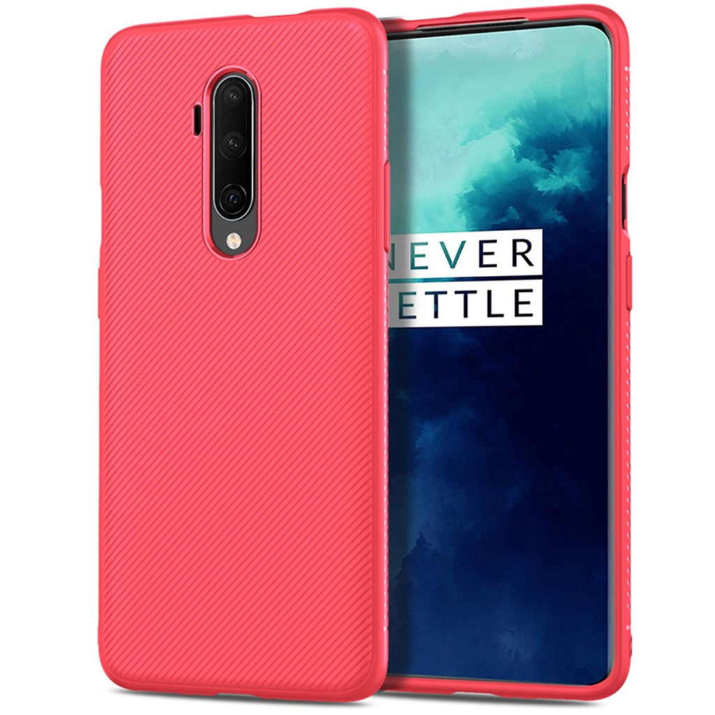 OnePlus 7T Pro Case Ultra Thin TPU Bumper Cushion Cover for Women Red