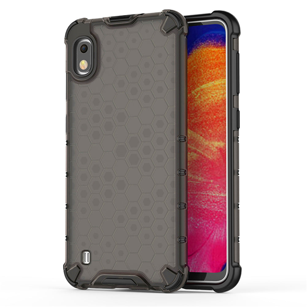 Samsung Galaxy A10 Case Dual LayerHybrid Phone Back Cover Honeycomb Shockproof Case Black