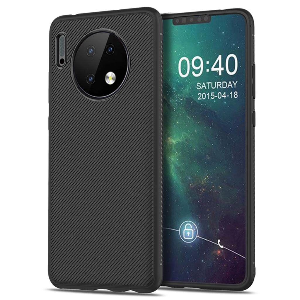 Huawei Mate 30 Case Shock Absorption TPU Rugged Back Cover Protective Shell Black