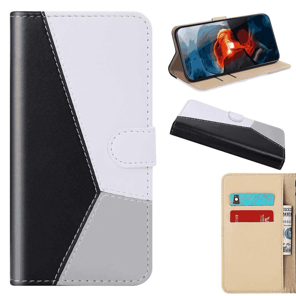 Sony Xperia 5 Case Wallet Stand Slim Fit Protective Shock Resistant Flip Cover Wallet Case Black