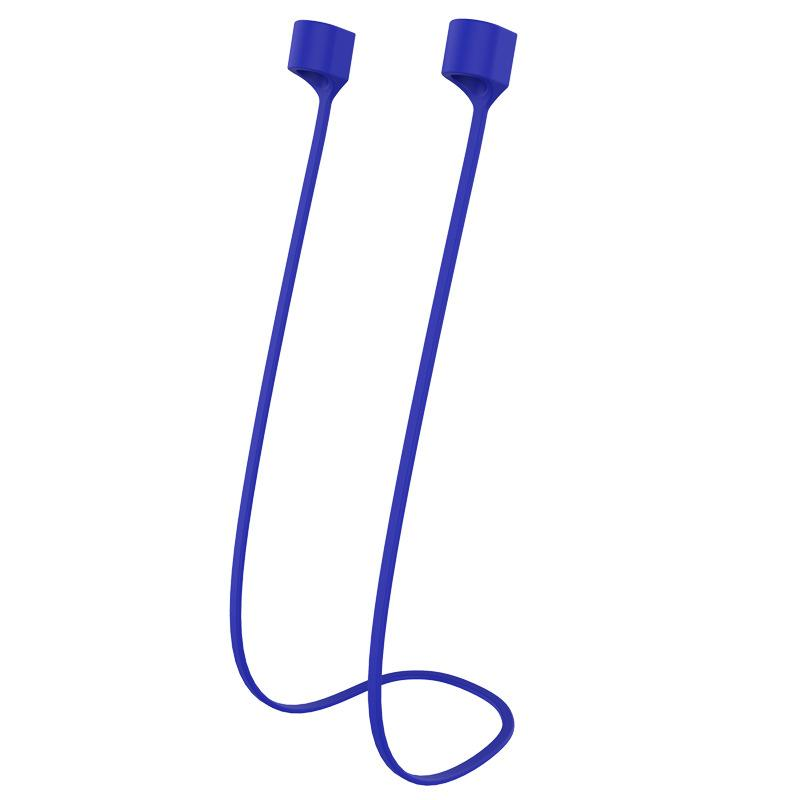 Airpods Magnetic Silicone Anti-lost Wire Wireless Bluetooth Earphone Sport Outdoor Cable Blue