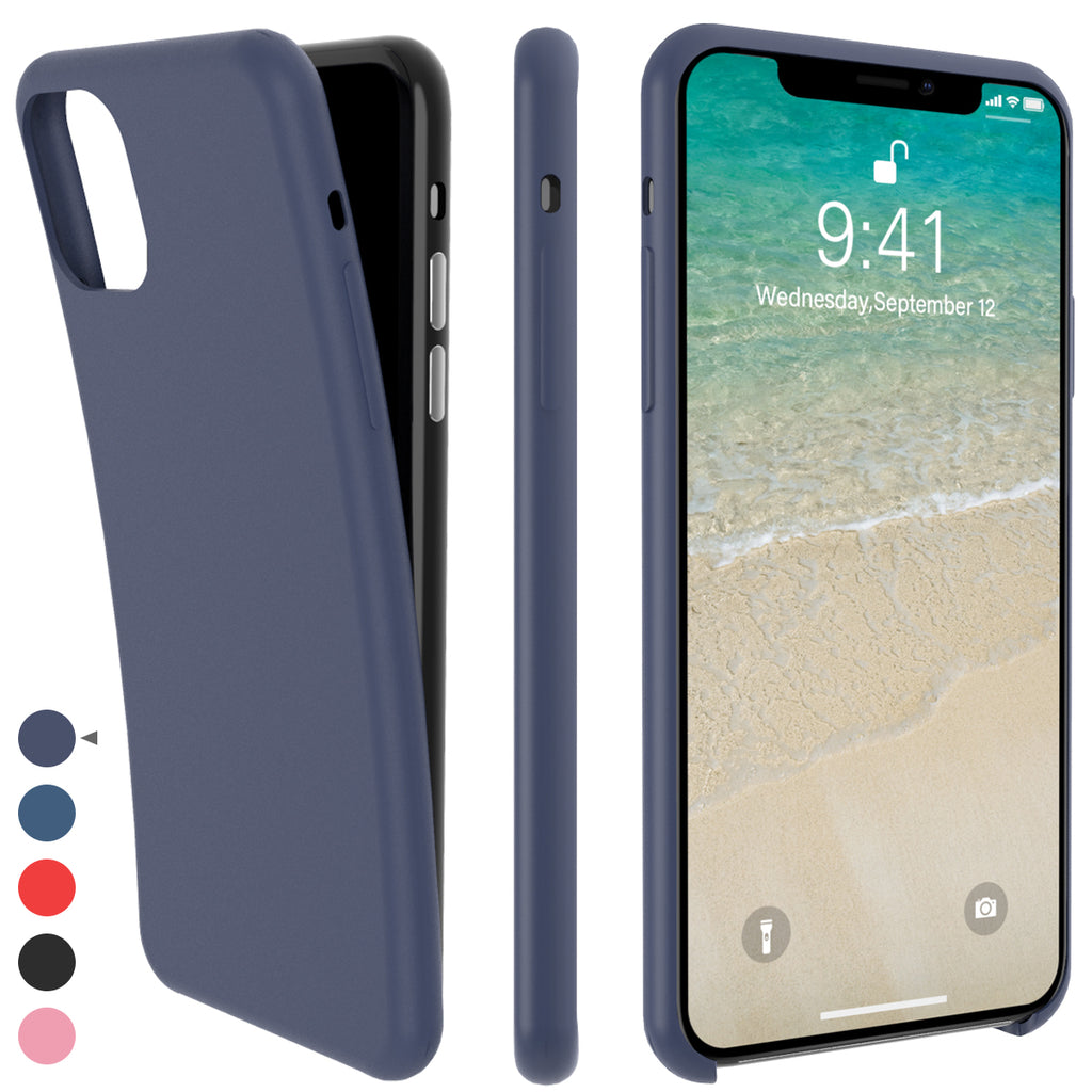 iPhone 11 Pro Case Silicone Anti-Scratch Shock Absorption Cover Case Blue