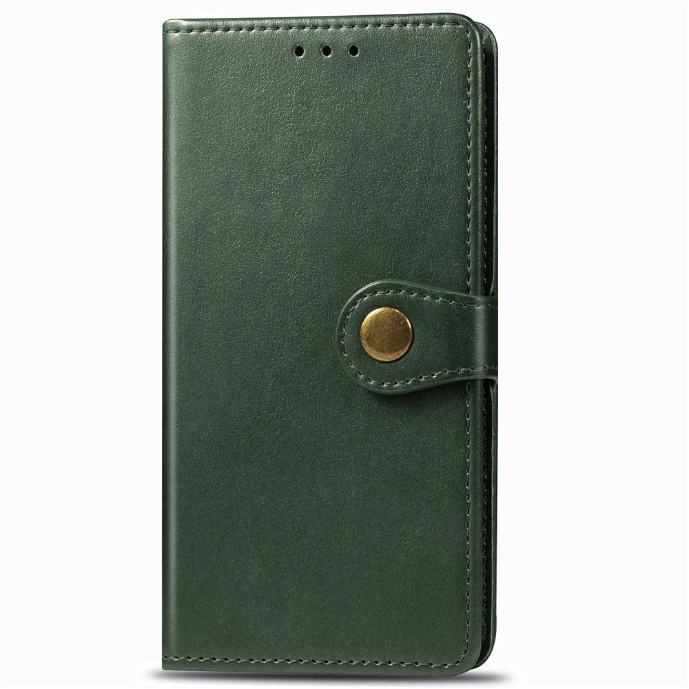 Samsung Galaxy A51 Leather Wallet Case Card Slots Cover with Lanyard Dark Green