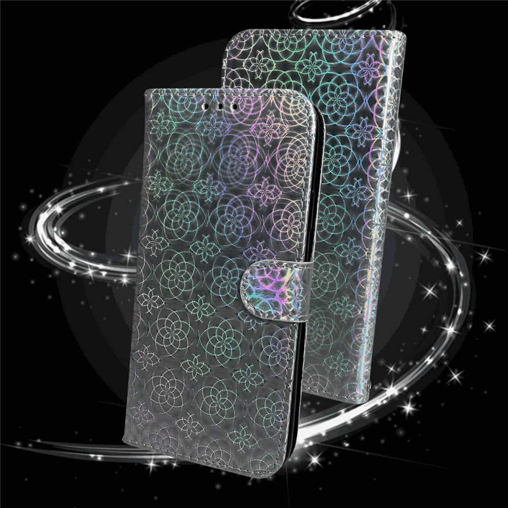 Samsung Galaxy A51 Wallet Case with Card Slots Kickstand Colorful PU Leather Case Silver